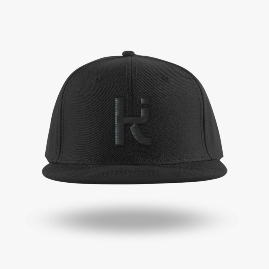 Kubashi Logo Snapback Black on Black